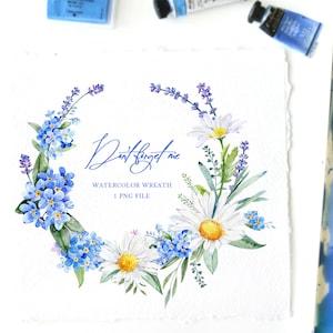 Illustrator Editable Vector Floral Clipart EPS Textile Art Wreaths Clip Art Peach Wedding Flowers Blue Pink Seafoam. PDF Banners