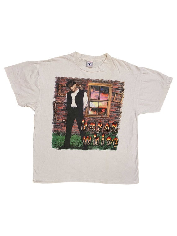 Vintage 1996 Bryan Adams 18 Til I Die Tour T Shirt size XL W 25.5 x L 28.5 Rod Stewart Sting Bon Jovi