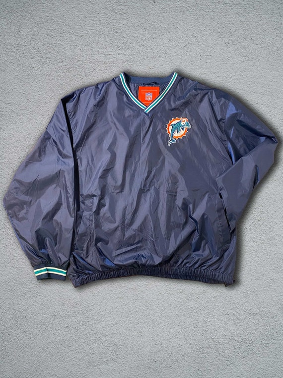 Vintage Miami Dolphins Pullover Jacket with side h