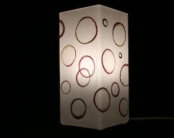 Lampe mit gepressten Pflanzen - Modell magische Ringe, Lamp with pressed plants - Magic Rings Model,