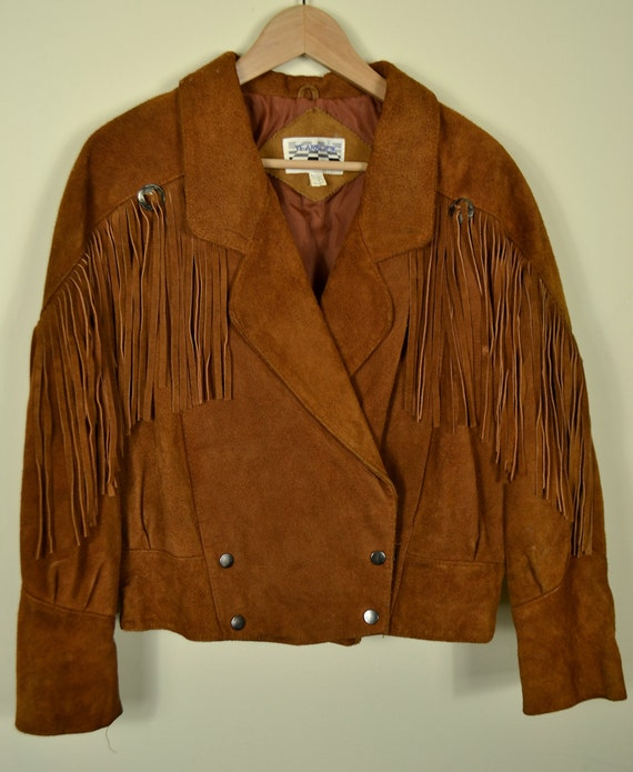 80's suede fringe cowgirl jacket