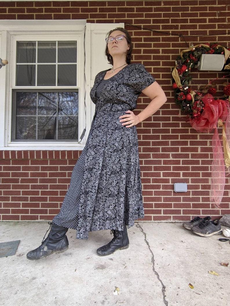 Two pattern large 90s dress