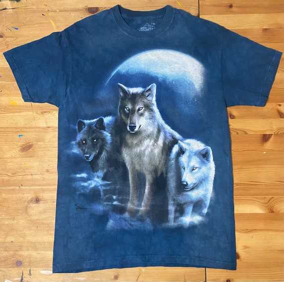 Fire /& Ice Wolves T Shirt Adult Unisex The Mountain