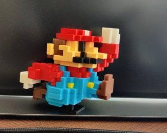 Super Mario 8 Bit Lego Building Bricks Toy, 3D-Printed Pixel Art Game Figure, Artistic Gifts
