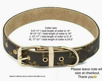 cc earrings dog collar and leash set Luxury brown plaid  dog collar gifts for fur moms luxury dog collar |checkered dog collar