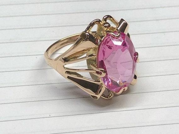 Gold Ring, Ruby, Russian Gold, Russian Jewelry, Ru