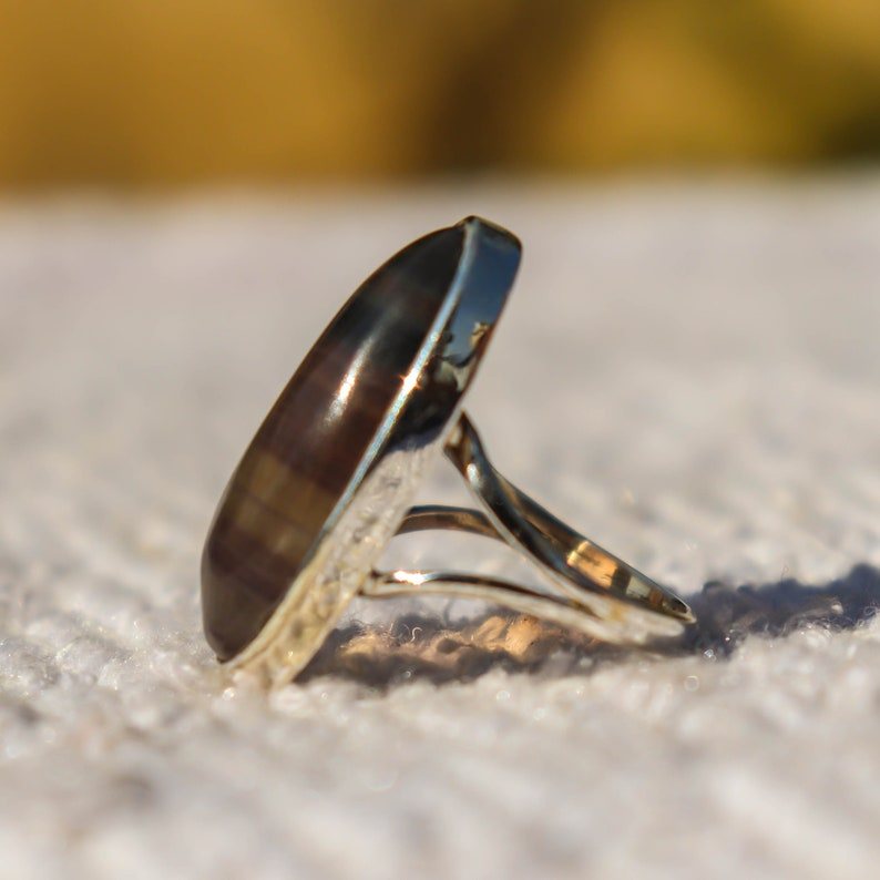 Natural Fluorite Ring Handmade Fluorite Jewellery Statement Ring Beautiful Ring 925 Sterling Silver Ring Fluorite Ring Fluorite Stone