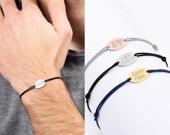 Custom Men Bracelet, Personalized Bracelet, Initial Bracelet, Boyfriend Bracelet, Link Bracelet Men, Personalized Gift, Valentine's Day Gift