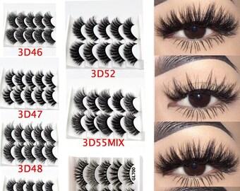 4 Pcs Fake Eyelashes Beautiful Natural False Toy Lash Decoration Accessories for