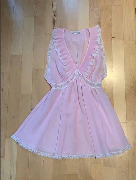 Vintage pink Dior babydoll dress