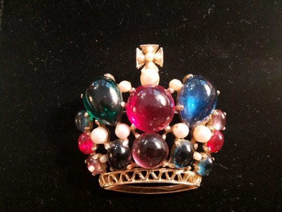 Fantasy Crown Brooch