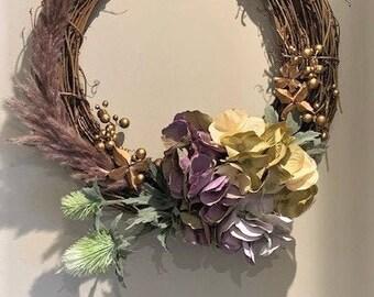 Mauve Hydrangea Wreath