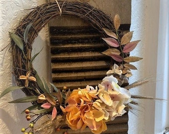 Yellow Hydrangea Wreath