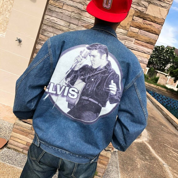 Vintage 2000 Elvis Presley Jean Jacket by firstcho