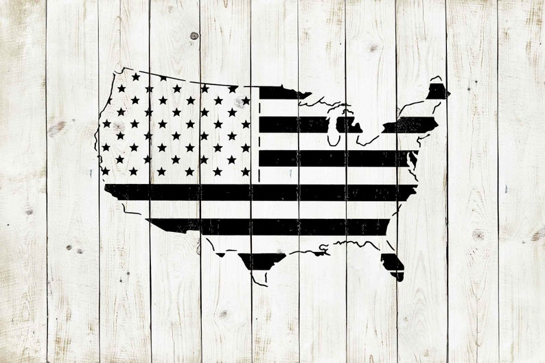 /& Paint Stencil Reusable Color American Flag United States Stencil Draw