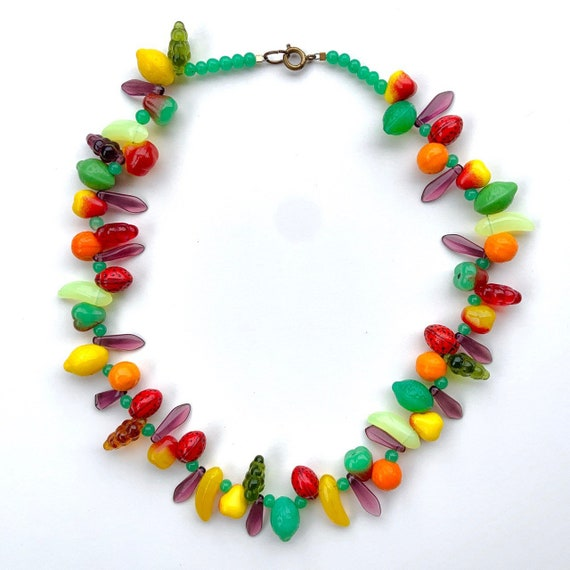 Vintage Fruit Necklace