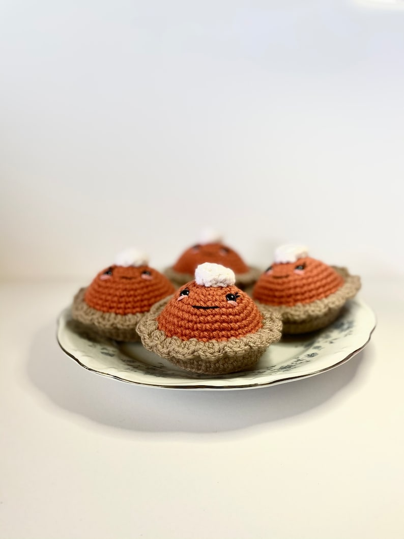 Crochet Pumpkin Pie Thanksgiving Plush  Thanksgiving image 0