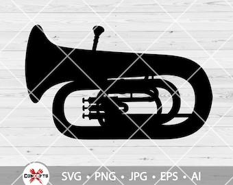 Tuba SVG File, Tuba Clipart, Musical Instruments Svg, Tuba Vector, Marching Band SVG, Tuba Files for Cricut, Tuba Cut Files For Silhouette
