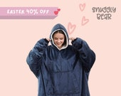 OVERSIZED BLANKET HOODIE . SnugglyBear Super Cozy Sherpa Giant Big Hooded Sweatshirt Comfortable Valentines Day Birthday Wedding Christmas