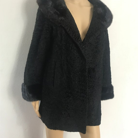 Persian Wool Black Coat / Incredible Quality