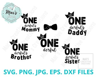 Brother of Mr Onederful 1st Birthday First One-Derful Svg