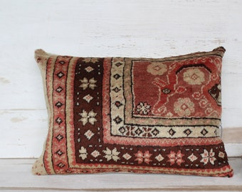 14x20 RUG  Pillow Cover, Ethnic Rug Pillow Case,  Rug Pillow Cushion , Turkish Rug Pillow, Decorative Rug Pillow Cover / P-669