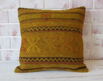 Circle Yellow Hemp Pillow,Circle Pillow,Special Pillow,Pillow,Bohemain Kilim Modern Pillow,Cover,Turk\u0131sh Coshion,Size:20x20inches 50x50cm