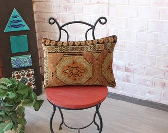 14x20 RUG  Pillow Cover, Ethnic Rug Pillow Case,  Rug Cushion , Turkish Rug Pillow, Decorative Rug Pillow , Ethnic Rug Pillow   /  P-2386