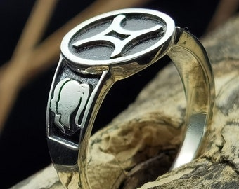 vintage sterling silver ring 925 statement dainty handmade boho Band natural antique jewelry gift for women mom her him