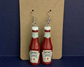 Novelty Earrings Toy Earrings Heinz Ketchup Earrings Mini Brand Earrings Lesbian Earrings