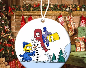 Simpsons Ornament Etsy