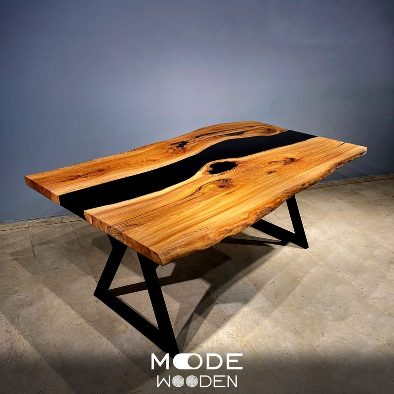 EPOXY TABLE | Epoxy Table | Epoxy Wood Resin Transparent Table | Epoxy Acacia Dining Table | Epoxy Dining Table | Live Edge Table