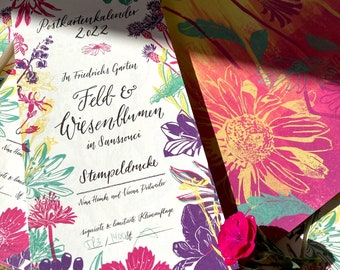 "2022 Postcard calendar ""Field and Meadow Flowers"""