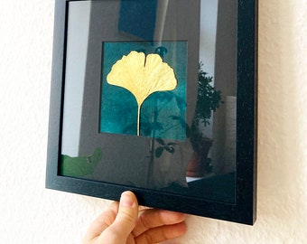 gilded ginkgo leaf 24 carats