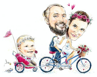 your wedding caricature from your favorite photo