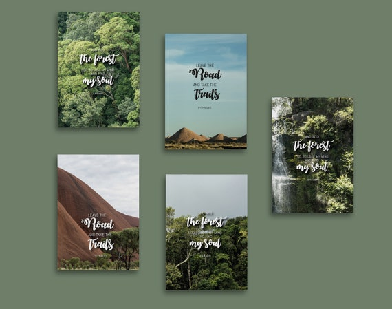 Notebook Australia | Inspiring sayings | 13 x 20 cm