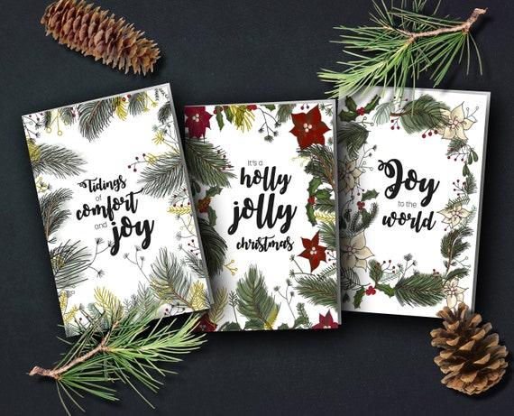 "Christmas cards ""Traditional"" | Christmas illustrations"