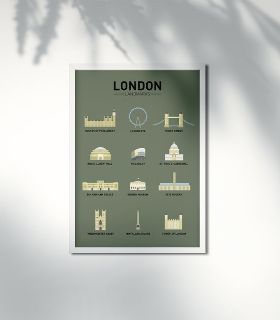 London Landmarks | DOWNLOAD | Poster A3