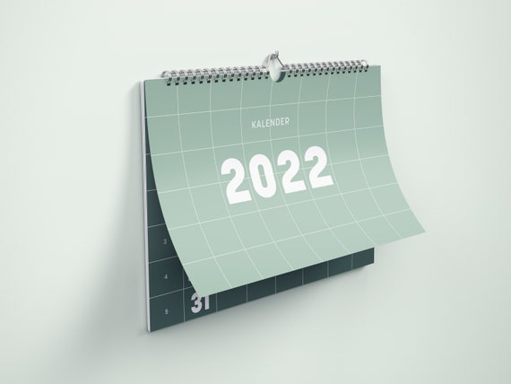 Wall Calendar 2022 | Minimalism Edition | A4 | Rust and natural colours