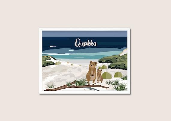 Quokka Illustration   DOWNLOAD Poster   A3