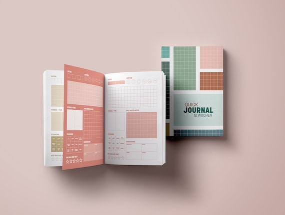 Quick Journal, Entry Book for 12 Weeks, Minimalism Edition