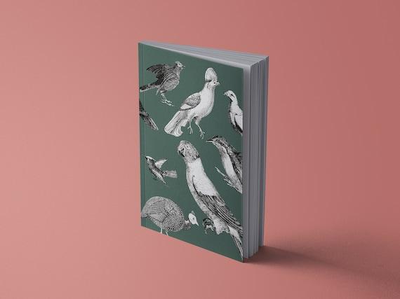 Notebook Vintage Parrots & Birds of Paradise | 13 x 20 cm