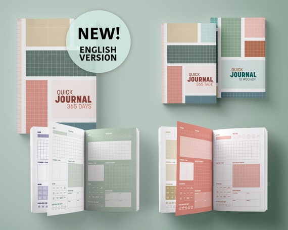 Quick Journal | Diary for 1 year | Minimalism Edition | A5