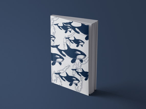 Notebook Vintage - Orca Whales