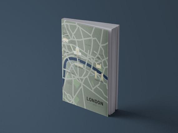 Notebook London City Map | Illustration | 13 x 20 cm