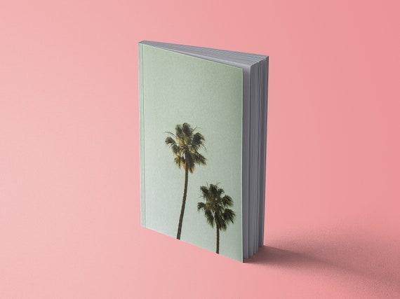 Notebook summer palm trees | green | 13 x 20 cm