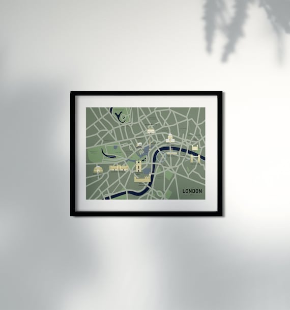 City Map London   DOWNLOAD Poster   A3