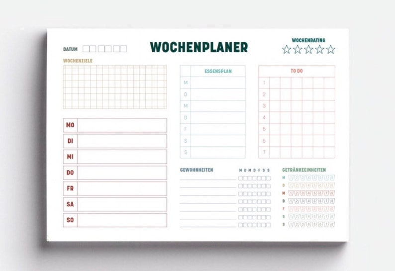 Weekly planner  Minimalism Edition  A5  block image 0