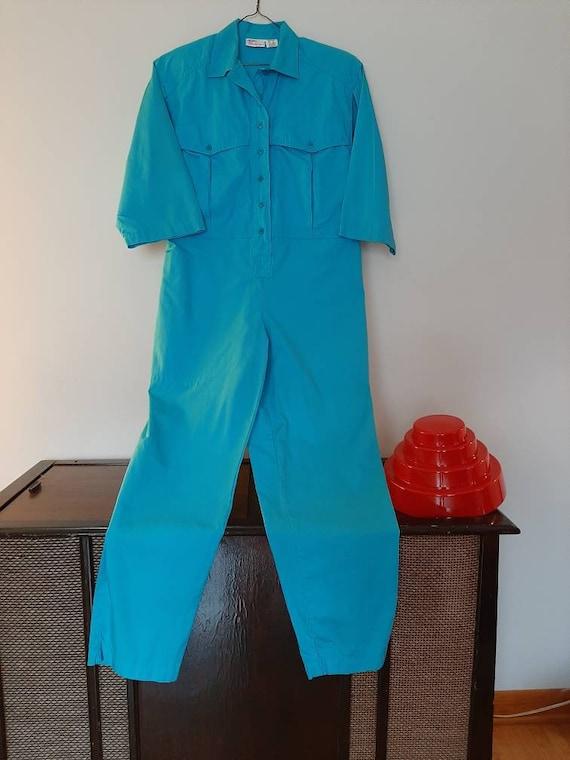 Nancy Blue Jump Suit