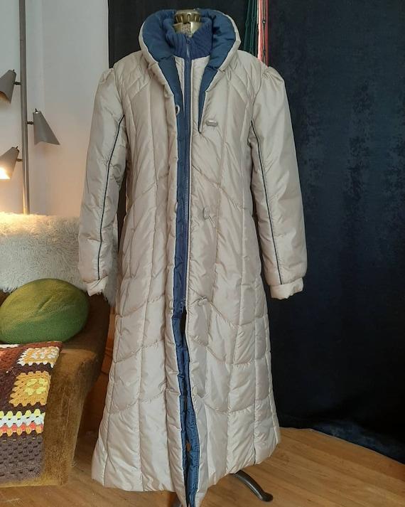 vintage winter puffer jacket 1980s